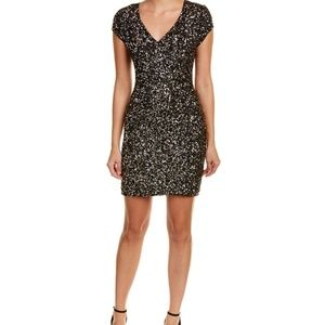 Parker Black Serena Sequin Silk Dress